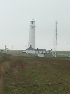 Nash Point lighthouses as we neared them