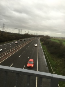 Over the M4 we go