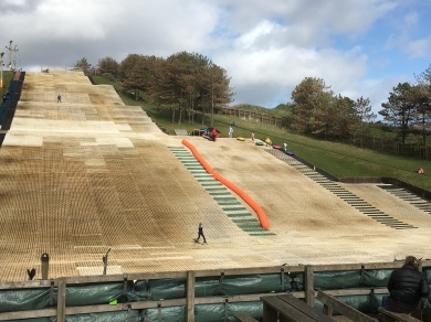 The dry ski slope
