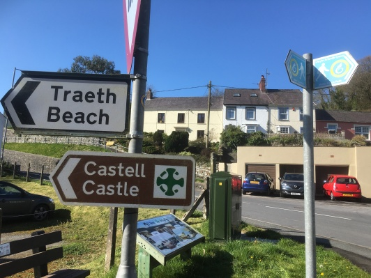 To the beach and castle