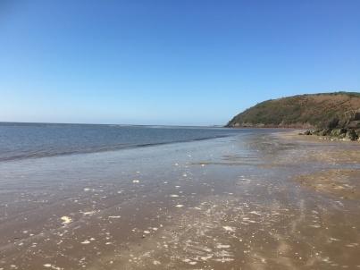Tide receding