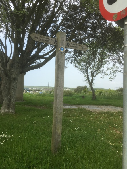 Coastal path sign at Parrog