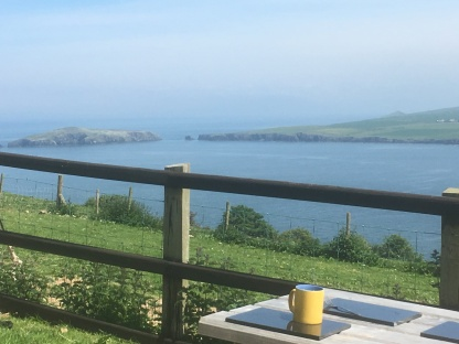 The view of Cardigan Island from the campsite