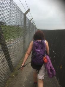 Like walking around a prison yard (or so Sharon tells me)