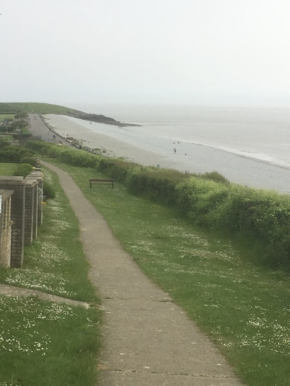 Pebble beach ahead of us