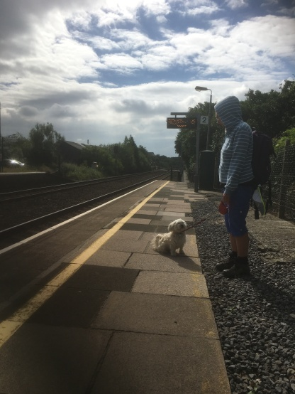 Waiting for the train to arrive - arms at the ready